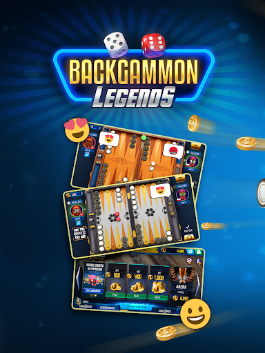 Backgammon Legends  online with chat - screenshot