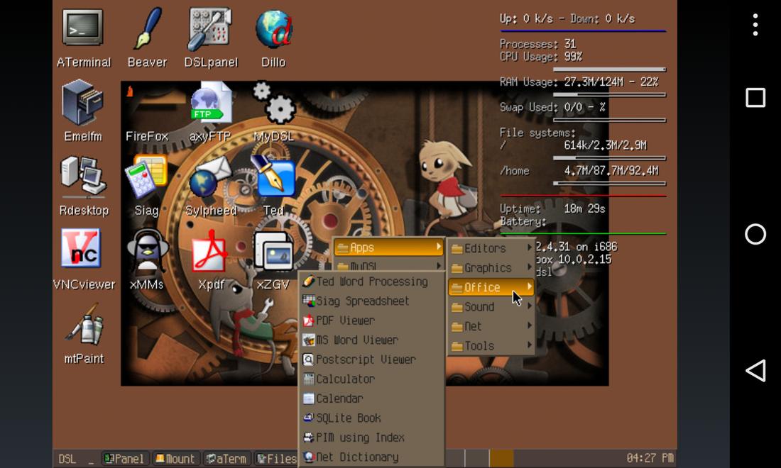 Limbo PC Emulator QEMU ARM x86 screenshots