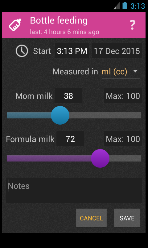 Baby Care Log- screenshot