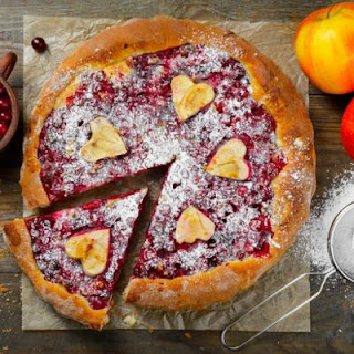 Cranberry and Brown Sugar Custard Tart