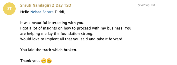 testimonial from sales dominator masterclass participant