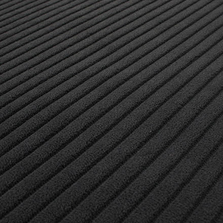 Bredspårig Manchester Möbeltyg - gråsvart