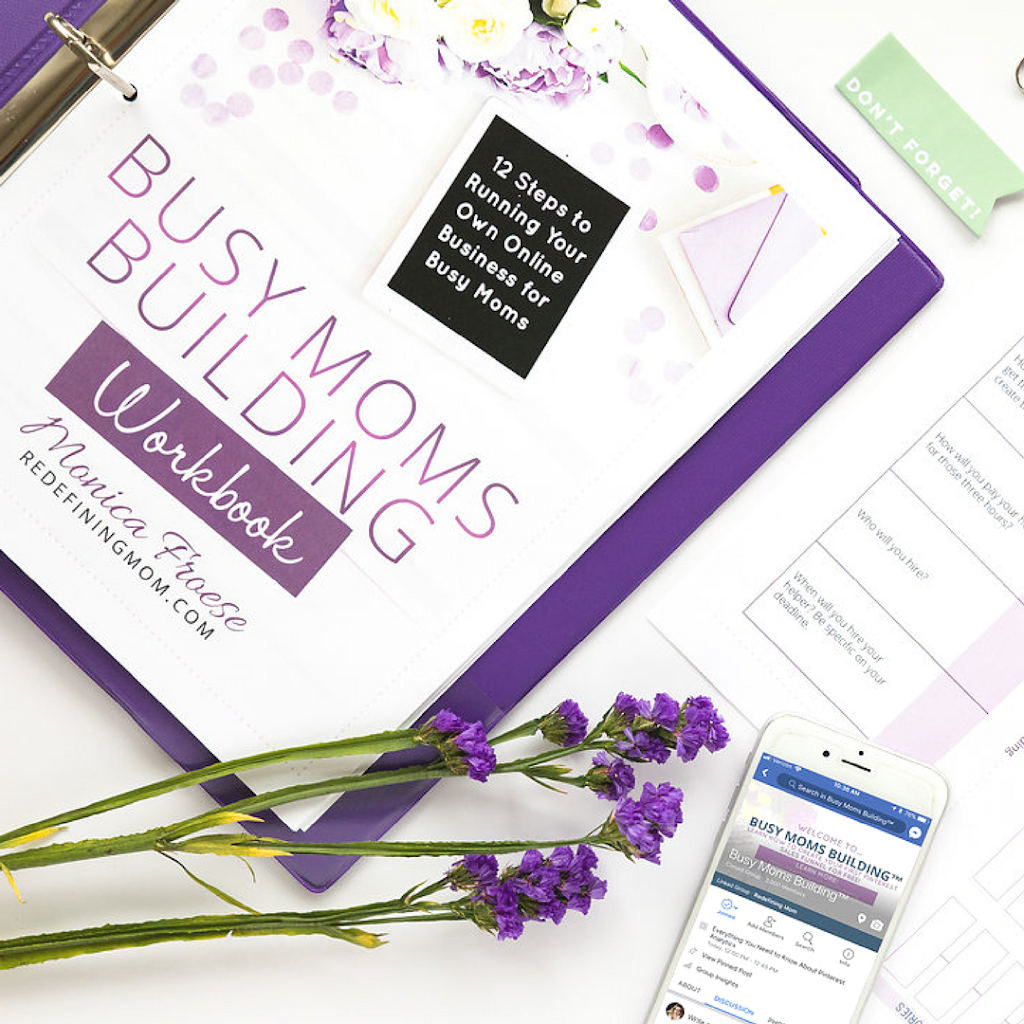 Busy Moms Building 12 Steps to Running Your Own Online Business for Busy Moms