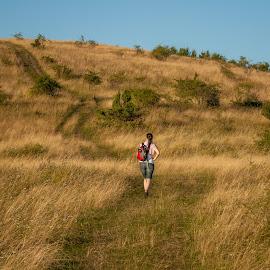 cestou domov by Ján Hrmo - Landscapes Prairies, Meadows & Fields ( preria, clovek )