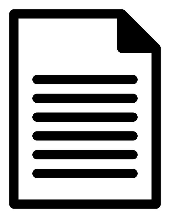 Hoja, Documento, De Papel, Carta, Texto, Icono