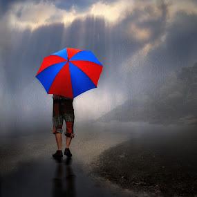 Walking in the Rain by Jennifer Woodward - Digital Art People