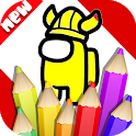 Coloring Among Us Book icon
