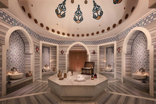 Enjoy the pampering of the Hamman (spa) at the Palm in Dubai.