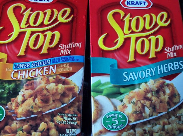 Pour 1/2 can of chicken stock into slow cooker then layer one box of...