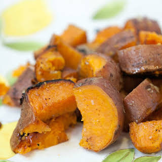 Grilled Garlic Butter Sweet Potatoes.