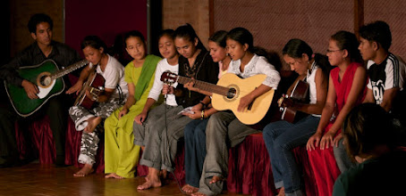 Photo: These young Nepali boys and girls now have a future of hope with Esther Benjamins Trust