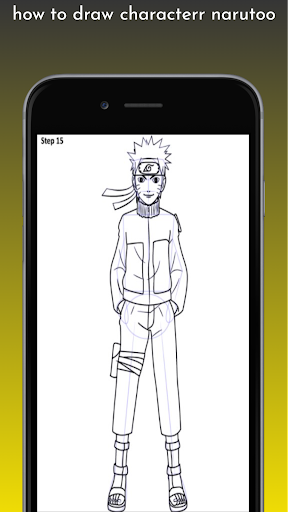 how to draw characterr narutoo