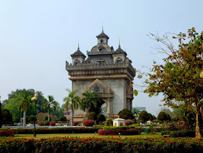 Photo: The Victory Monument is Vientiane's best-known landmark.