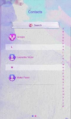 Watercolors GO SMS - screenshot
