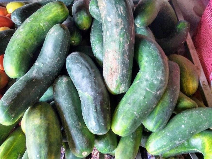 Vista Previa de los Pepinillos vendidos en un mercado local en Perú. Fotografía proporcionada por Irvis Murillo.