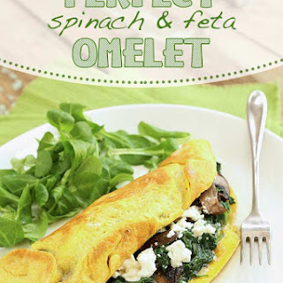 Perfect Spinach & Feta Omelet