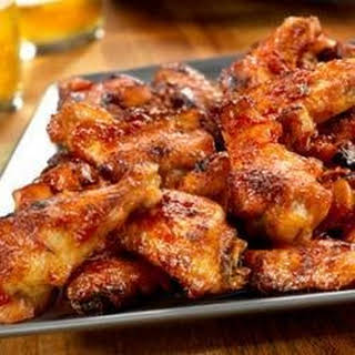 Picante-Glazed Chicken Wings.