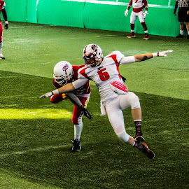 Ready for takeoff by Paul Drajem - Sports & Fitness American and Canadian football ( arena football, sports, players, indoor, football, arena, people,  )