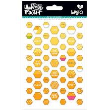 Bella Blvd Illustrated Faith Basics Mini Hexies Epoxy Stickers - Bananas For UTG