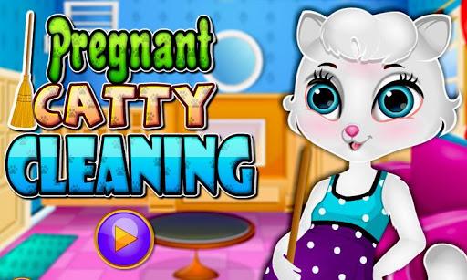 妊娠中のキャティクリーニングルーム