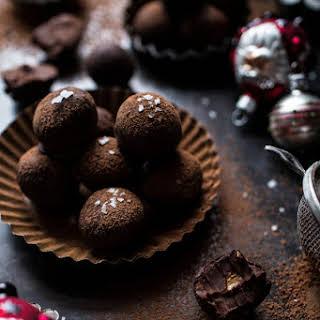 Salted Peanut Butter Caramel Chocolate Truffles..