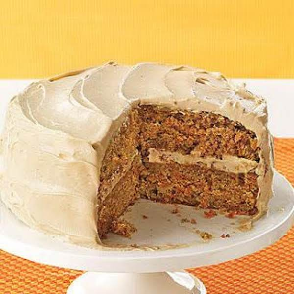 Layered Carrot Cake With Orange Flavored Frosting