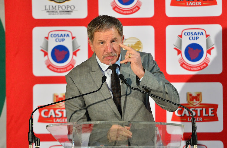 Bafana Bafana head coach Stuart Baxter during the Cosafa Cup launch and draw at SAFA House, Johannesburg on 18 April 2018.