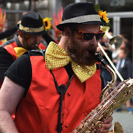 beard  and  brass by Gordon Simpson - People Musicians & Entertainers