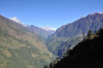 Photo: とうとう、ナムチェの山があらわれる