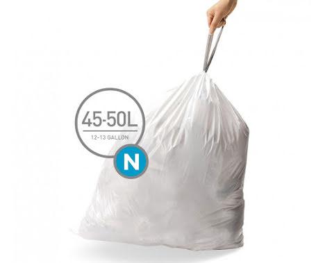 Avfallspåsar till Simplehuman 3 x pack med 20 påsar(60-påsar)  TYP N