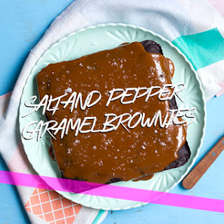 Salt and Pepper Caramel Brownies.
