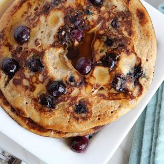Paleo & Low Carb Blueberry Pancakes.