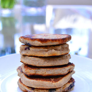 Blueberry and Banana Pancakes {Gluten & Dairy Free}.