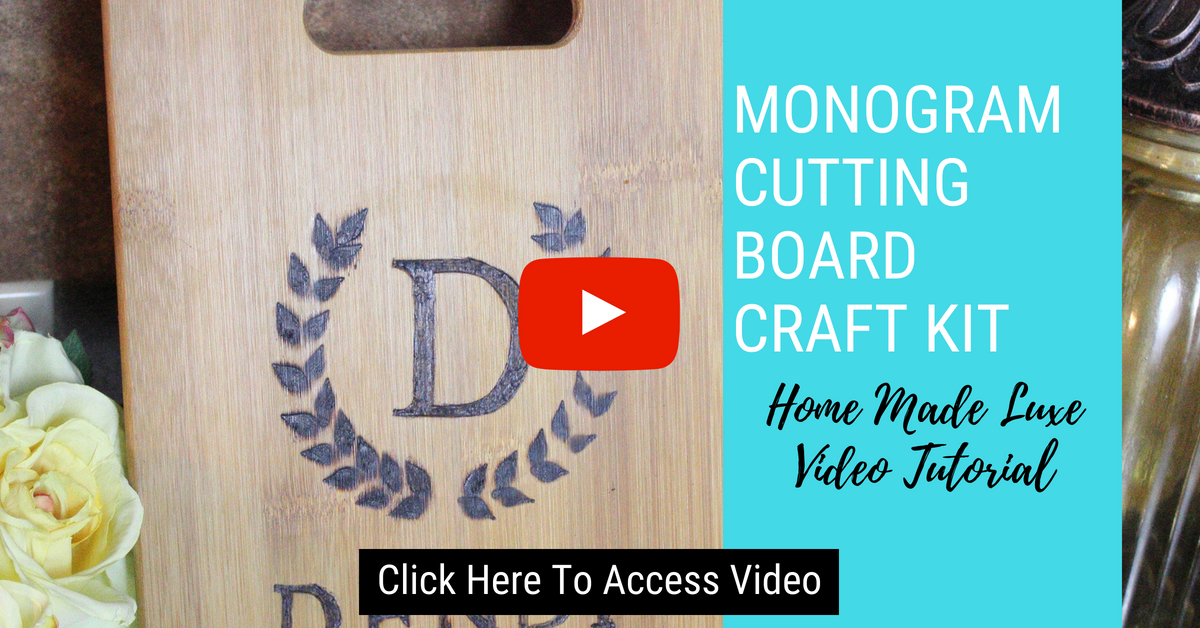 Click here to access monogram cutting board craft