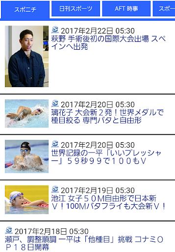水泳競泳ニュース