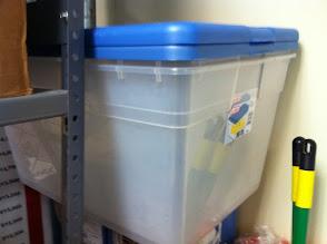 Photo: Clear tote storage