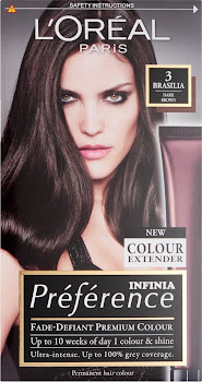 L'Oreal Paris Preference Infinia Hair Colourant - 3 Brasilia Dark Brown