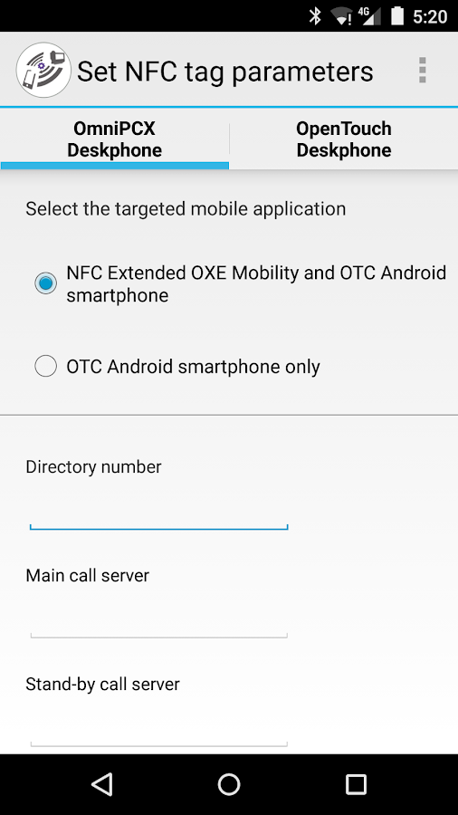 ALE NFC Admin Xtended Mobility- screenshot