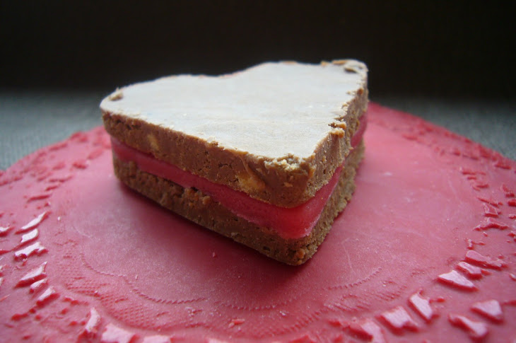 Chocolate Hearts on an Edible Plate
