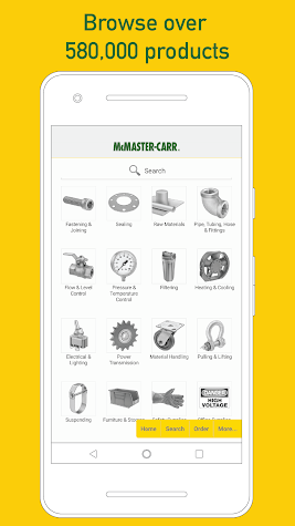 McMaster-Carr Screenshot