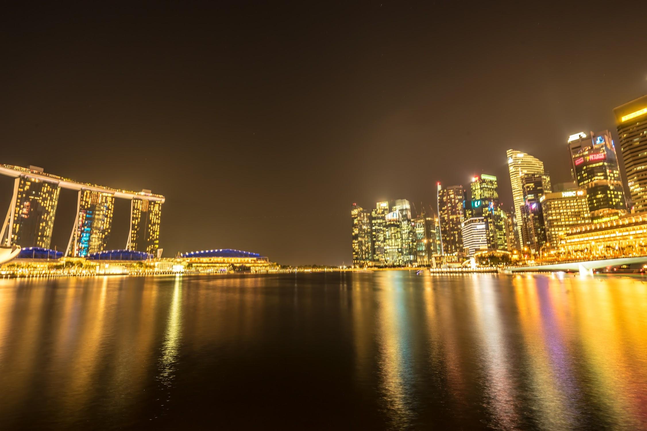シンガポール マリーナ・ベイ・サンズ 夜景5