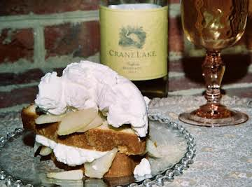 Vanilla Pound Cake W/ A Moscato Wine & Pear Syrup