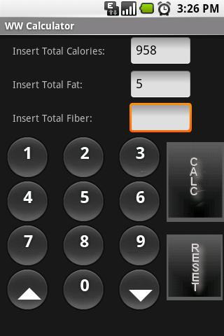 WW Calculator screenshot 1