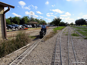 Photo: Doug Blogett coming out of the car barn area with a freight train at 10:02 AM.      HALS Public Run Day 2015-0919 RPW