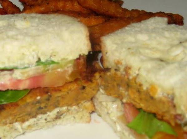 Veggie Orange Lentil Burgers Recipe