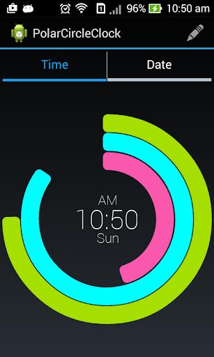 Polar Clock Screen
