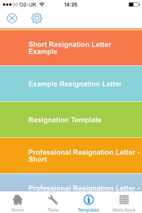 resignation letter android apps on google play