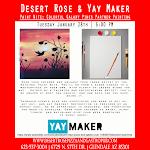 "Craft Night at Desert Rose ""Paint Nite"""