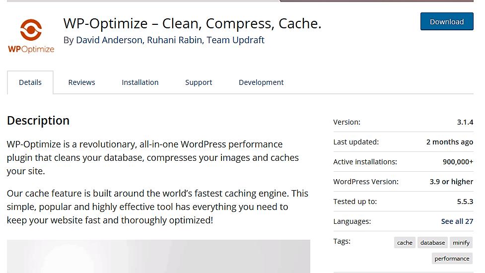 WP-Optimize Plugin