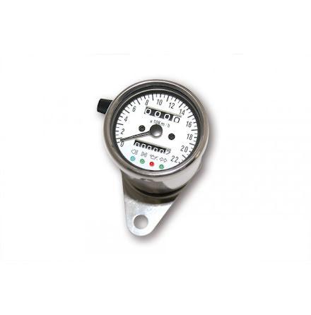 Speedometer, 1400 RPM, Ø 60 mm, dial white illuminating